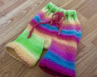 Rainbow Wool Longies, Wool Longies, Wool Diaper Cover, Wool Soaker, Choose Your Size, Made to Order