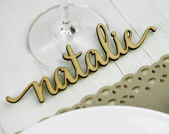 Rustic Wedding Place card alternative, place setting, wedding party seating guest names, Wedding gift J003