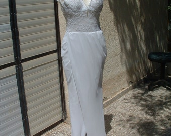 free shippingWedding dress pre-owned excellent vintage dress circa 1970's made in Italy free shipping