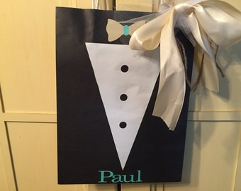 Tuxedo and Tie Gift Bag