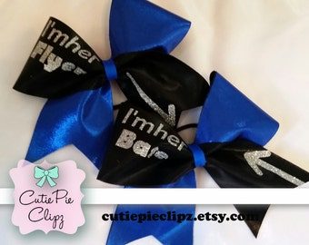 I'm Her Base and I'm Her Flyer Cheer Bow Set
