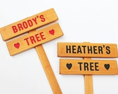 Personalized Tree Sign, Family Tree Marker, Grandkid Gift, Gift for him, Gift for her, Garden Decor