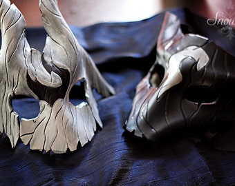 Kindred the eternal hunter leather masks, league of legends, lol, cosplay,larping, costume, fantasy,