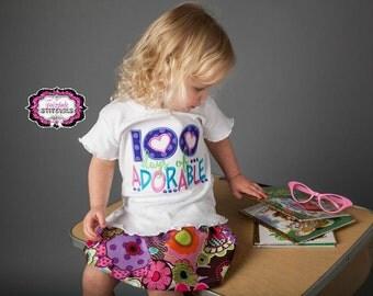 100 Days of School Shirt, 100 Days of School, 100th Day of School, One Hundred Days of School, 100 Days of Adorable