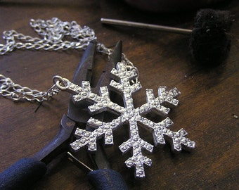 Handmade Winter Snowflake cast in Sterling Silver