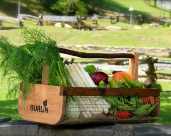 BURLIN Garden Basket,Garden Harvesting Basket BURLIN, Vegetable Basket,Hod, Picnic Basket, Storage Basket, Large Basket