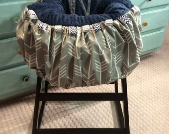 Grey Arrow Initial Shopping Cart Cover or Highchair Cover