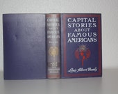 Capital Stories about Famous Americans by Louis Albert Banks 1905, Antique Book, Vintage Book, Purple Book, Purple and White Decorative Book