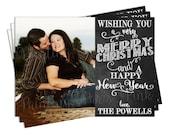 Chalkboard Christmas Holiday Card   Photo   Printable OR Professionally Printed   5x7