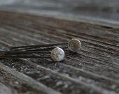 Silver Gray Coin Pearl Hair Pins Large Gemstone Bobby Pins Wedding Hair Pins Decorative Pearl Hair Pins