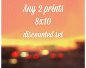DISCOUNTED SET, Any Two Prints in my shop - size 8x10 - Set of 2, Fine Art Photography, Home Decor, Affordable Art, Sale