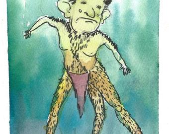 Enfield Horror- Cryptid Series- Print of my original illustration