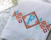 Tribal Pattern Monogram Frame Border Fill 3 sizes  Embroidery Designs   INSTANT DOWNLOAD