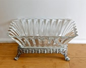 Rare silver plate and crystal or glass bowl…F.B. Rogers Silver Co. 1152…glass bowl with silver plate base…elegant.