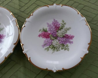 Gorgeous Set of 2 Schumann Arzberg Lilac Time Plates 7.5 inches Made in Germany