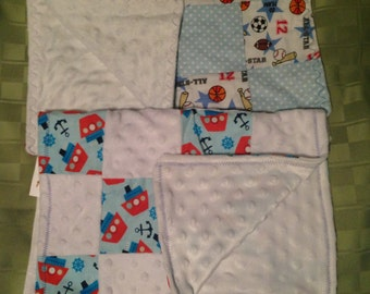Handmade Baby Boy Patchwork Burp Cloths