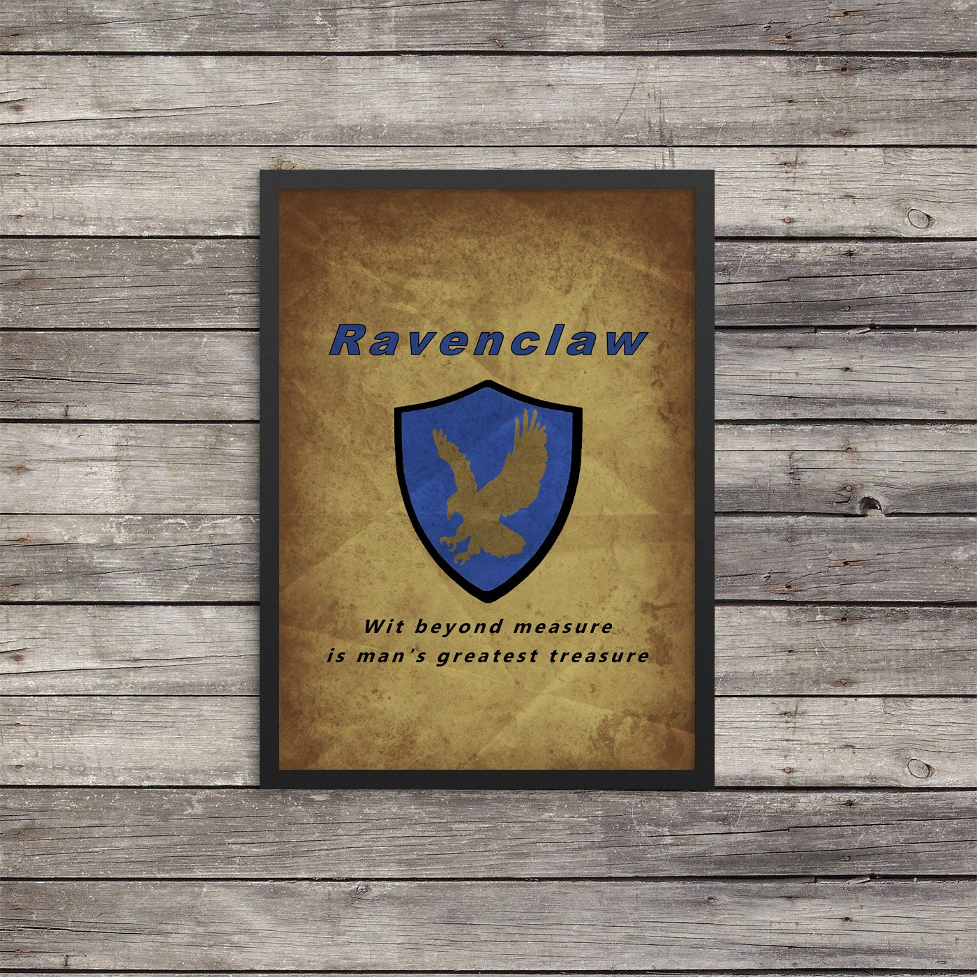 Ravenclaw Poster Minimalist Poster Harry Potter Poster