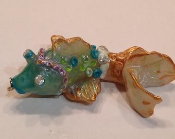 Polymer clay koi fish,handmade,fish,koi,pendant,charm,ornament