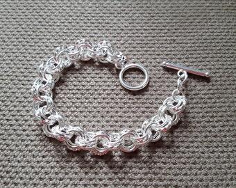 New High Fashion 925 Sterling Silver Circle Bracelets Women Silver Bracelets