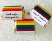 210 Personalized GAY/LESBIAN MARRIAGE/Pride wrappers/labels/stickers for your Hershey Nugget Chocolates - Makes Great Party Favors