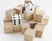 """50 Solid Wooden Blocks - 5/8"""" Square Unfinished Wood Blocks 