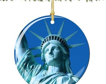 Statue of Liberty Christmas Ornament Porcelain Decoration