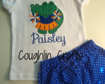 Toddler GIRLS Gator Mascot Outfit **Available in Sizes 12 Months though 5T**