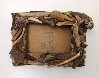 Driftwood Frame 4 x 6, Rustic Beach Frame, Coastal Home Decor (Made to Order)