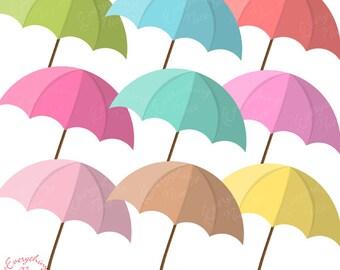 Umbrellas Umbrella 3 Clipart Set