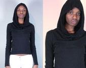 Cyberpunk Hoodie Sweatshirt Hoodie Women Black Hoodie Oversized Hood Hoodies for Women Cowl Neck Sweater Cowl Neck Hood Cowl Hood Cowl Goth