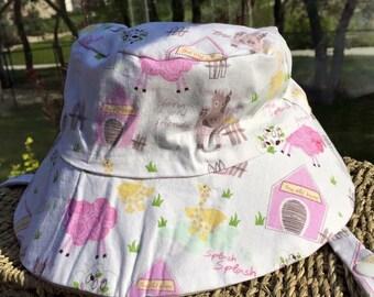 Reversible bucket hat 6-12 month size