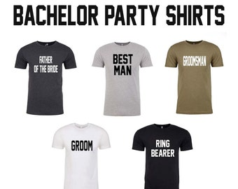 Bachelor Party Shirts. Groomsmen Gift. Groom Gift. Groomsman Gift. Bachelor Shirts. Will You Be My Groomsman. Father of the Bride Shirt.