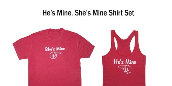 He's Mine She's Mine Shirts, Husband and Wife Shirts, Just Married Shirts, Couples Shirts, Honeymoon Shirt Package, Hubby Shirt, Wifey Shirt