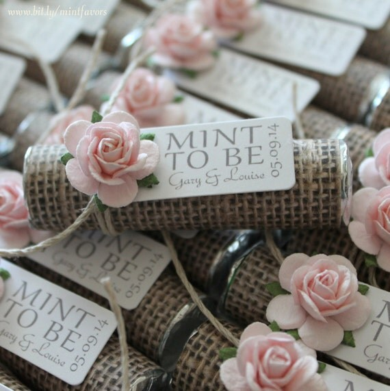 Wedding Gift Ideas Overseas : Mint wedding Favors - Set of 50 mint rolls -