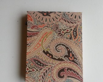 Handmade Blank Journal or Sketchbook - Orange Paisley