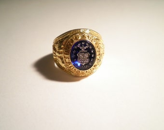 1 Goldplated U.S. Airforce Ring