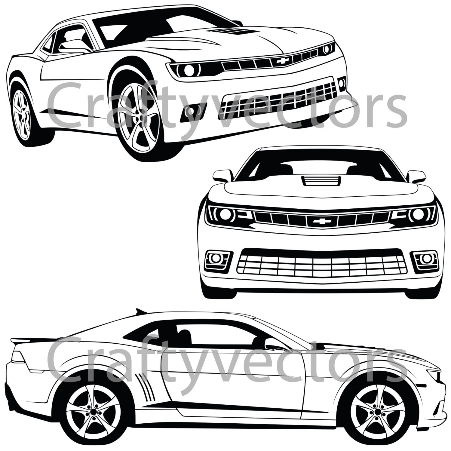 chevrolet camaro 2015 vector file