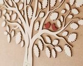 3D Wedding Guest Book Alternative Wedding Tree Wood Guest Book Rustic Wedding Guestbook Wedding Gift Tree Of Hearts Leaves