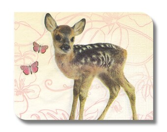 Paper napkin for decoupage, mixed media, collage, scrapbooking x 1. Bambi. No 1256
