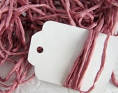 Hand Dyed Silk Ribbon - Pink Silk Cord - Jewelry string - embroidery - Vintage Rose
