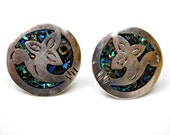 Taxco Sterling Silver Earrings Abalone 925