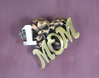Number One Mom Brooch- Mother's Day Gift- Gifts for Mom