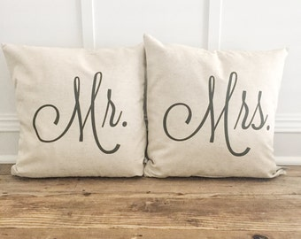 Mr. & Mrs. Pillow Cover Set