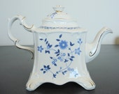 Crown Dorset Staffordshire White Square Teapot