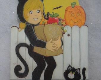 Vintage Unused Daughter Halloween Card from Hallmark Made in USA Daughter Trick or Treat Card Unused Halloween