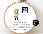 Medical Cross Stitch Kits of Doctor. Funny gift for Doctor. DIY Christmas gifts for Medical student. Unique Doctor gifts guide