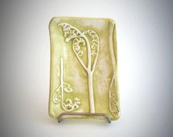 Fiddlehead Fern Tea Caddy - Light Moss