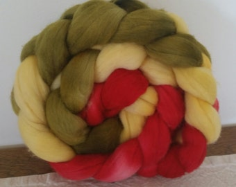 Wool Roving- Cherry Time