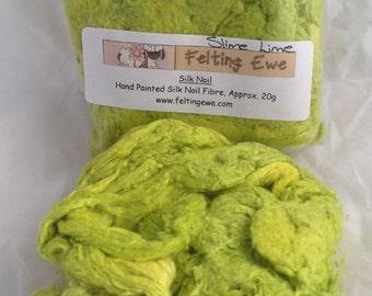 Silk Noils Slime Lime