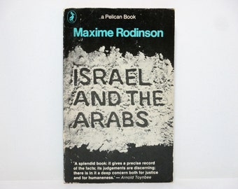 Israel and the Arabs by Maxime Rodinson 1978 Vintage UK Pelican Book